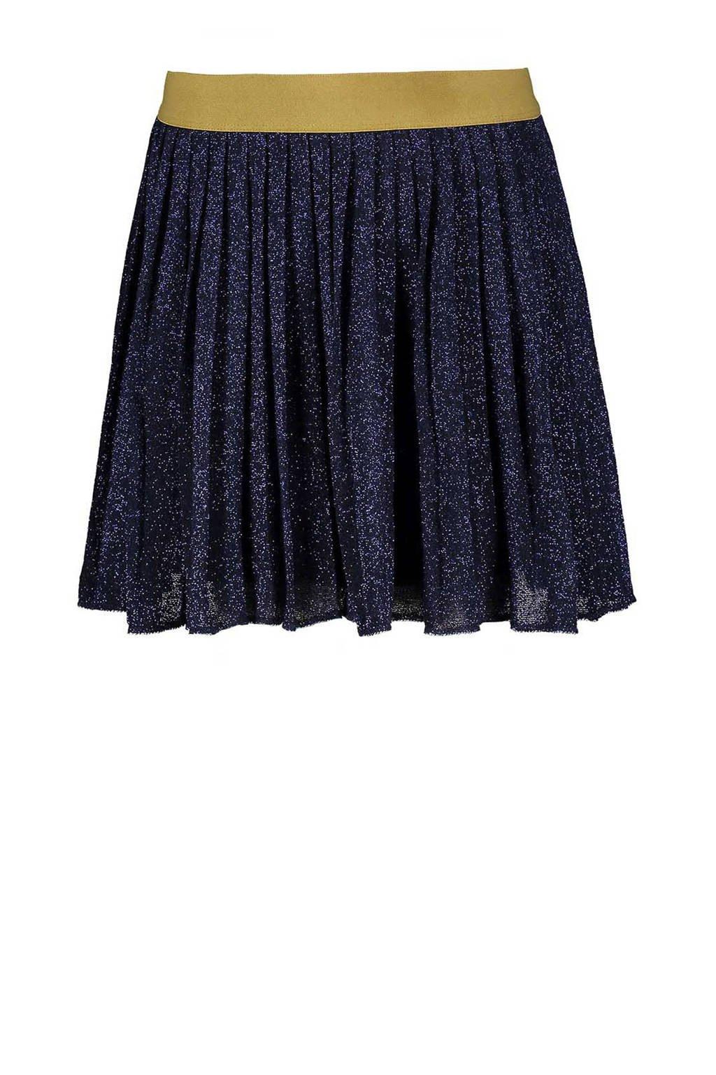 Sissy-Boy plissé rok met glitters donkerblauw, Donkerblauw