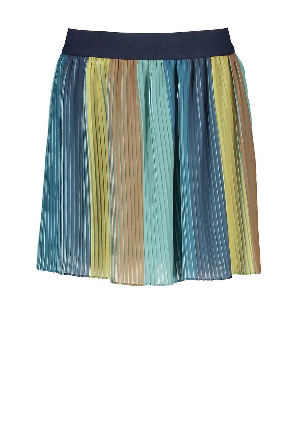 Sissy-Boy gestreepte plissé rok blauw, Blauw/geel