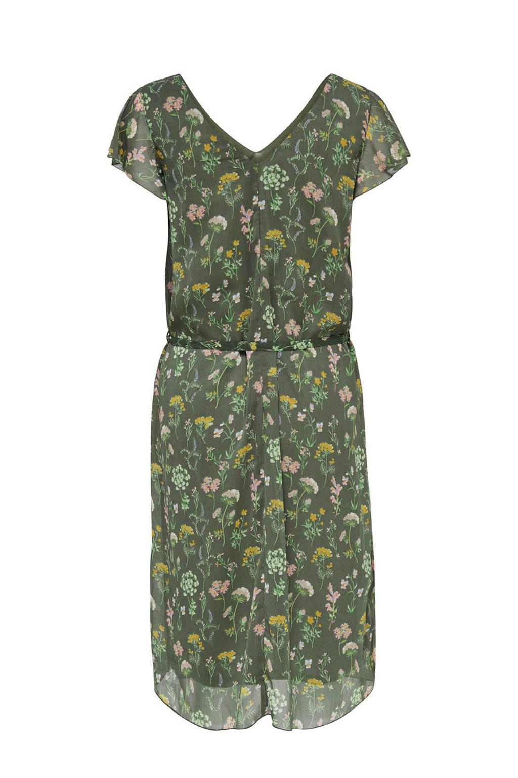 JACQUELINE DE YONG gebloemde jurk, Groen