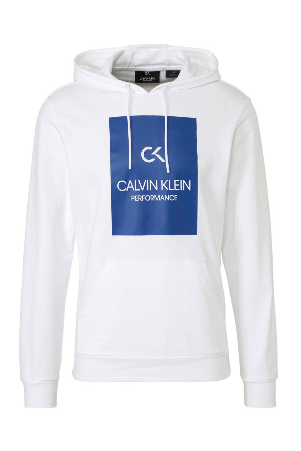 Calvin Klein   sportsweater met printopdruk wit, Wit/blauw