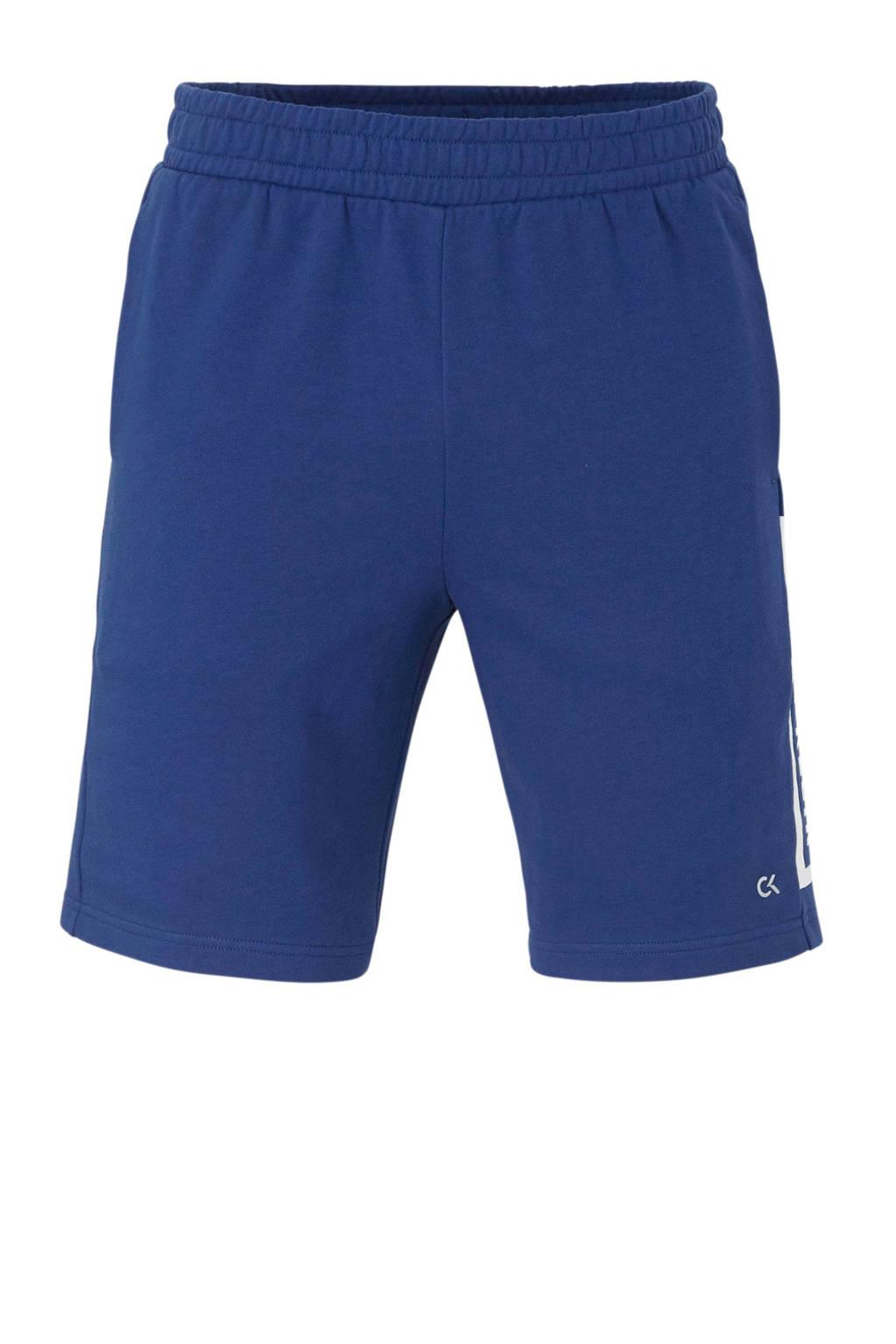 Calvin Klein   sportshort met printopdruk blauw, Blauw