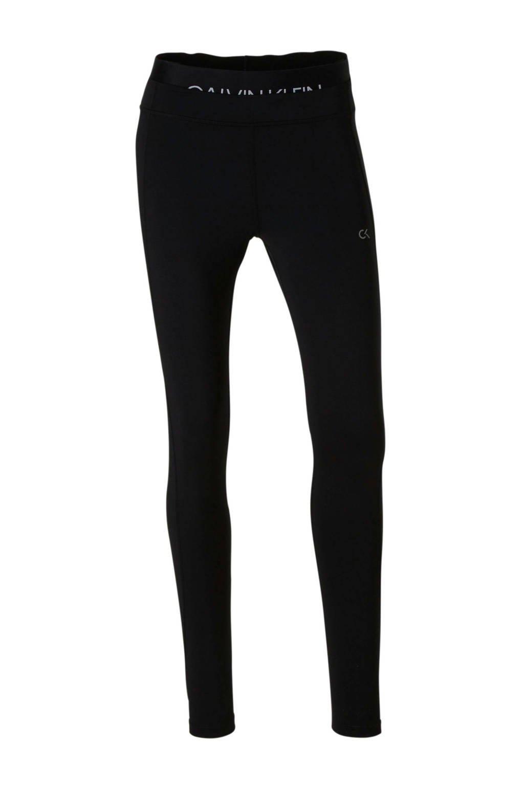 Calvin Klein sportbroek met tekst zwart, Zwart