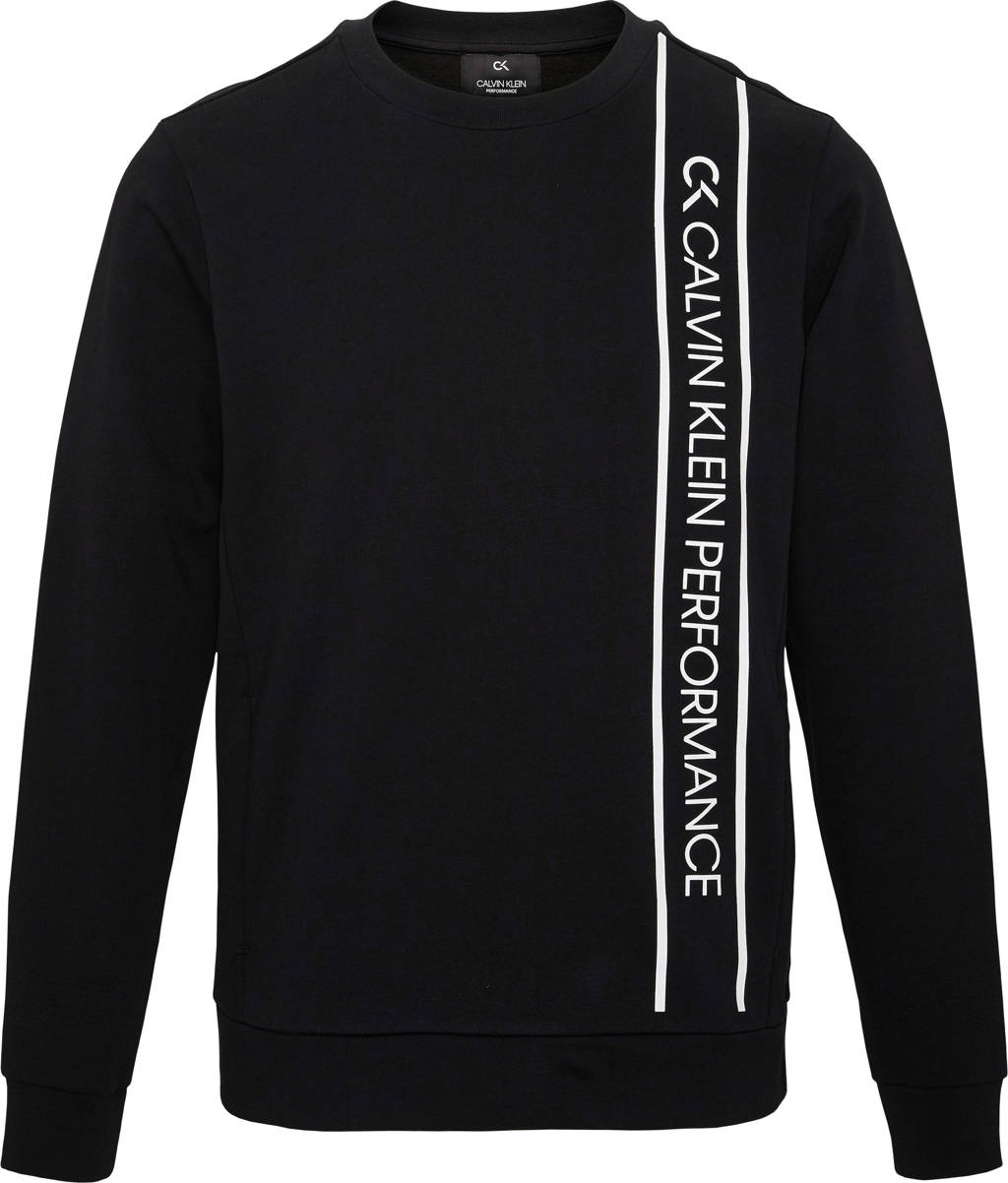 Calvin Klein   sportsweater zwart, Zwart/wit