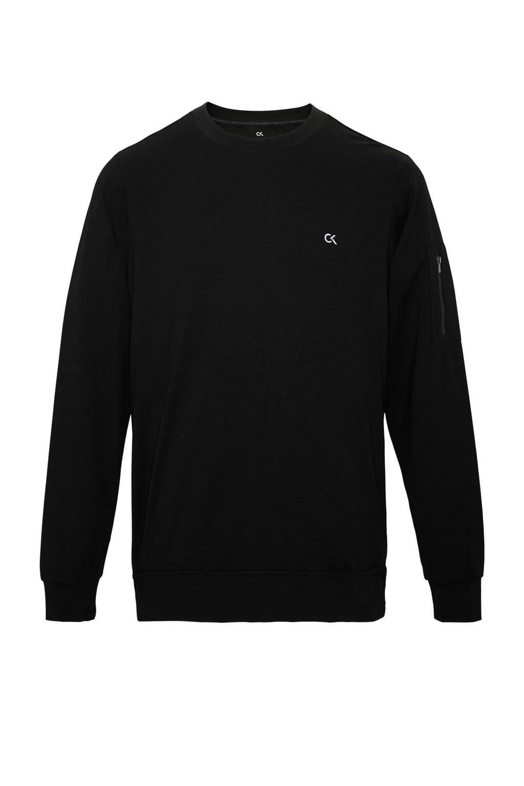 Calvin Klein   sportsweater grijs melange, Zwart