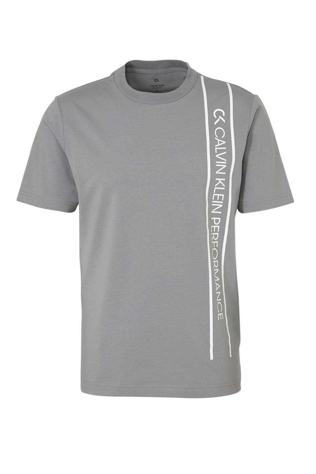 Calvin Klein   sport T-shirt met printopdruk grijs, Grijs