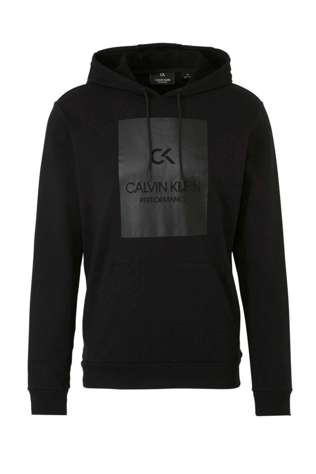 Calvin Klein   sportsweater met printopdruk zwart, Zwart