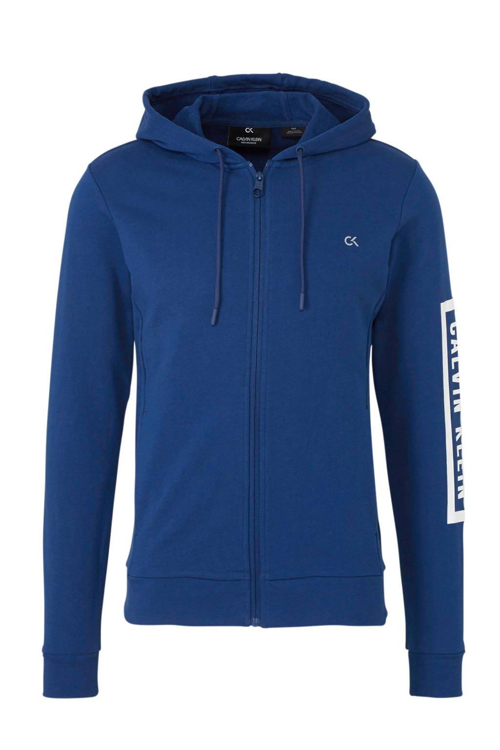 Calvin Klein   sportvest met printopdruk blauw, Blauw