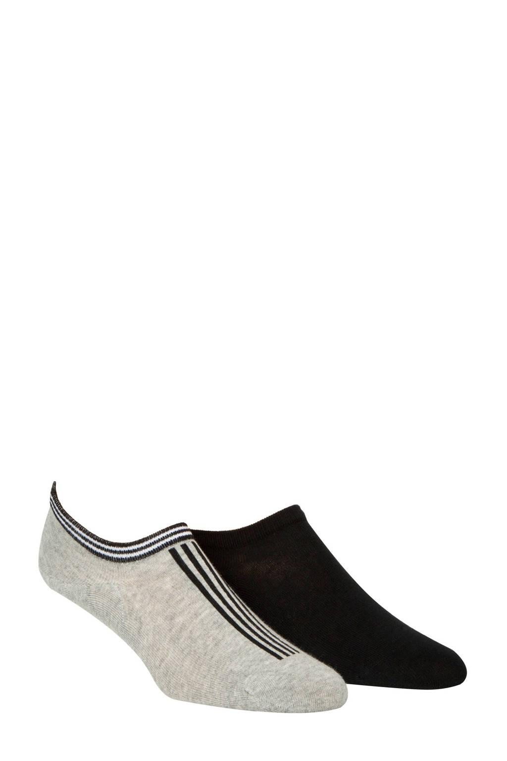 Calvin Klein sneakersokken set van 2, Grijs/zwart