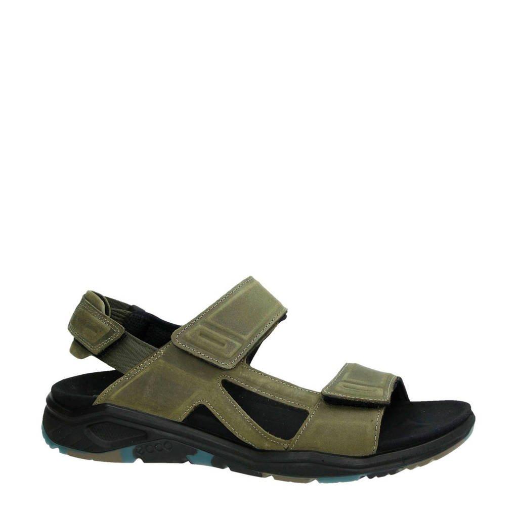 Ecco X -Trinsic nubuck sandalen kaki, Kaki