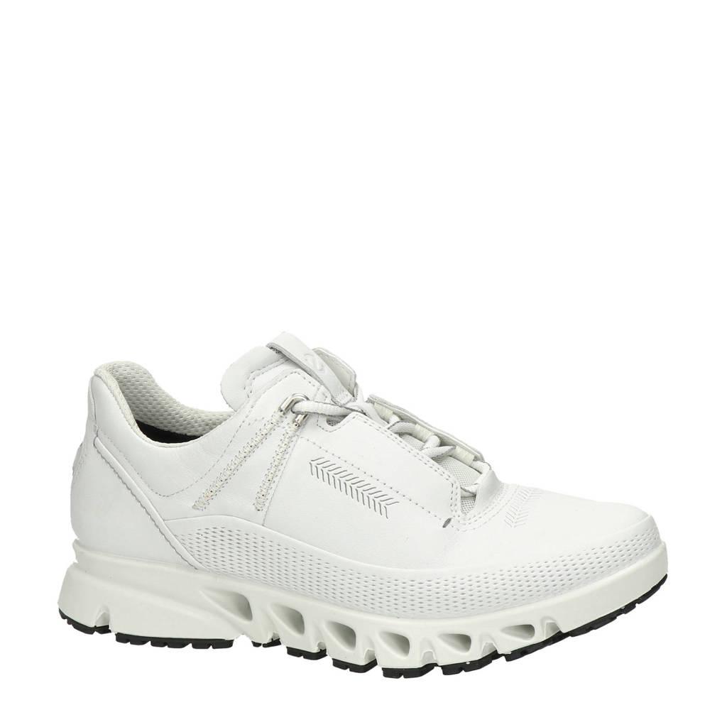 Ecco Multi-Vent  leren sneakers wit, Wit