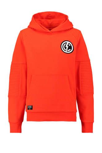 hoodie met ribbels oranje