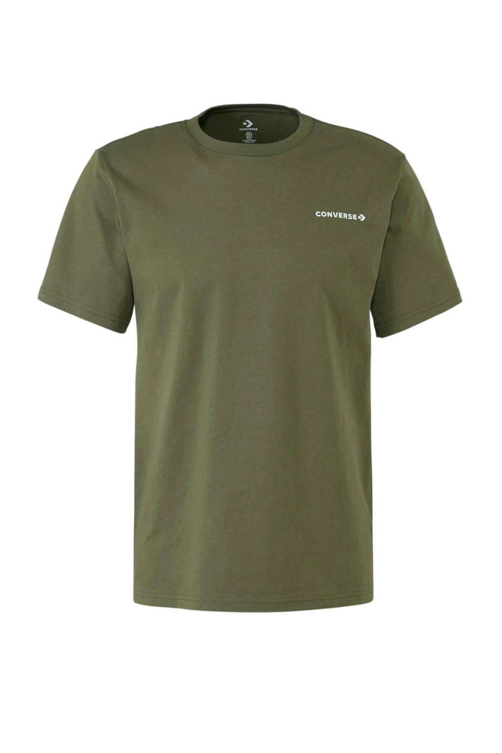 Converse   T-shirt olijfgroen, Olijfgroen