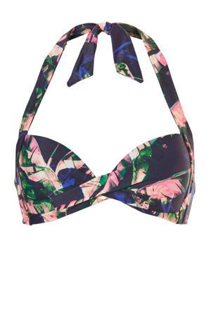 halter bikinitop met all-over print