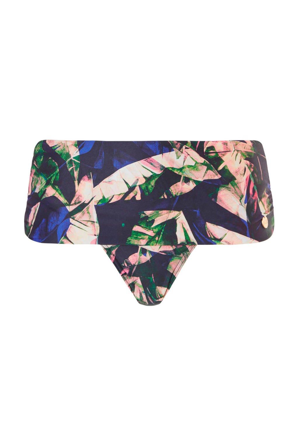 TC WOW omslagbroekje met all-over print marine, Marine/roze/blauw