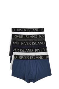 River Island boxershorts (set van 5), Blauw/ grijs/ zwart