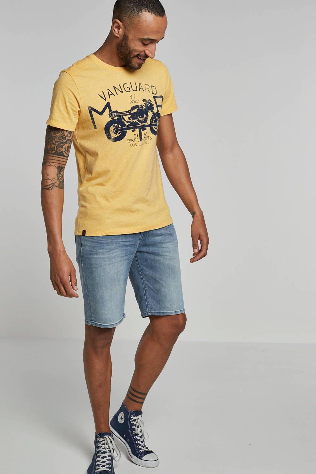 Vanguard slim fit Jeans short, Grijsblauw