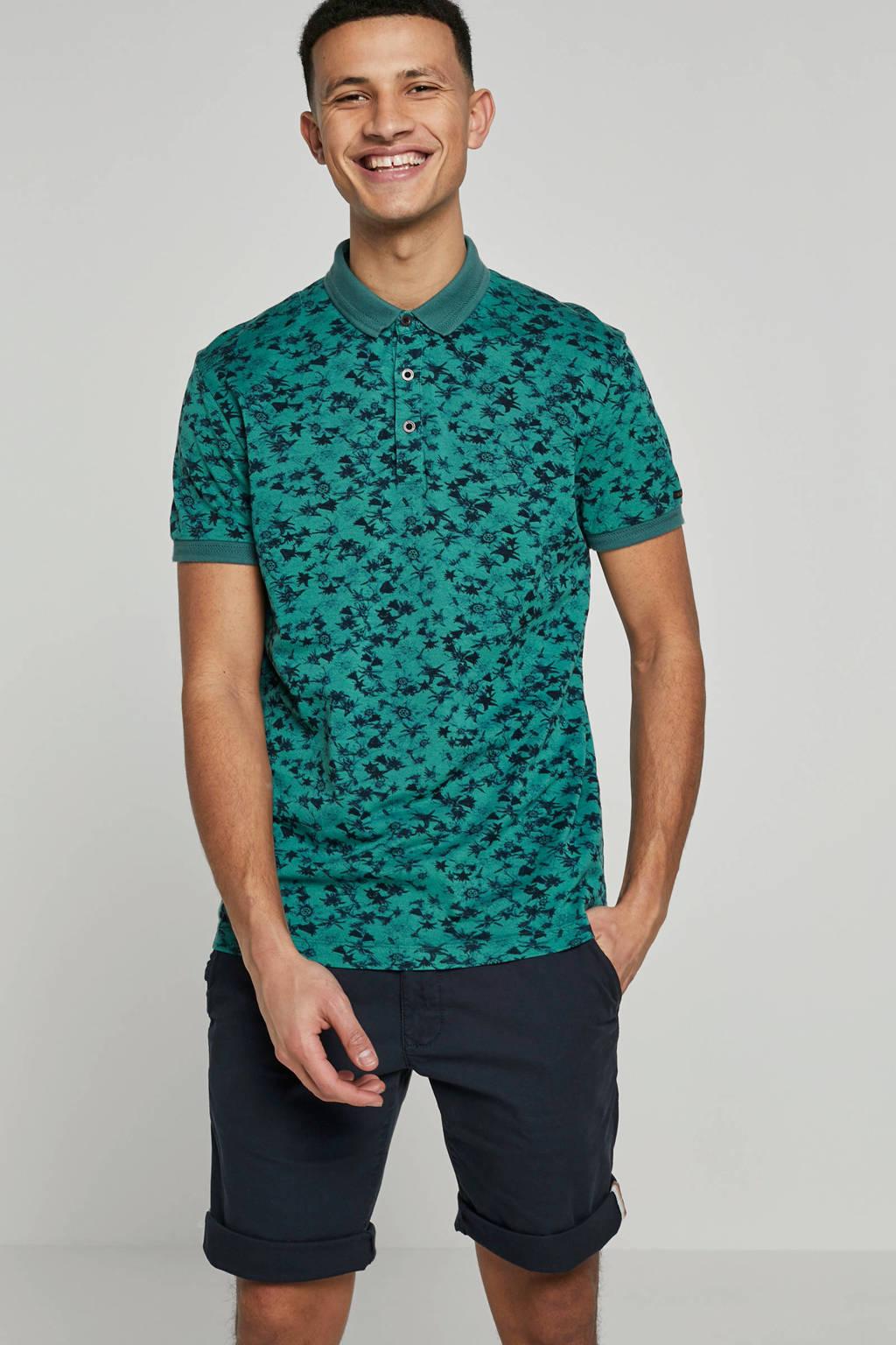 Vanguard polo, Groen/blauw