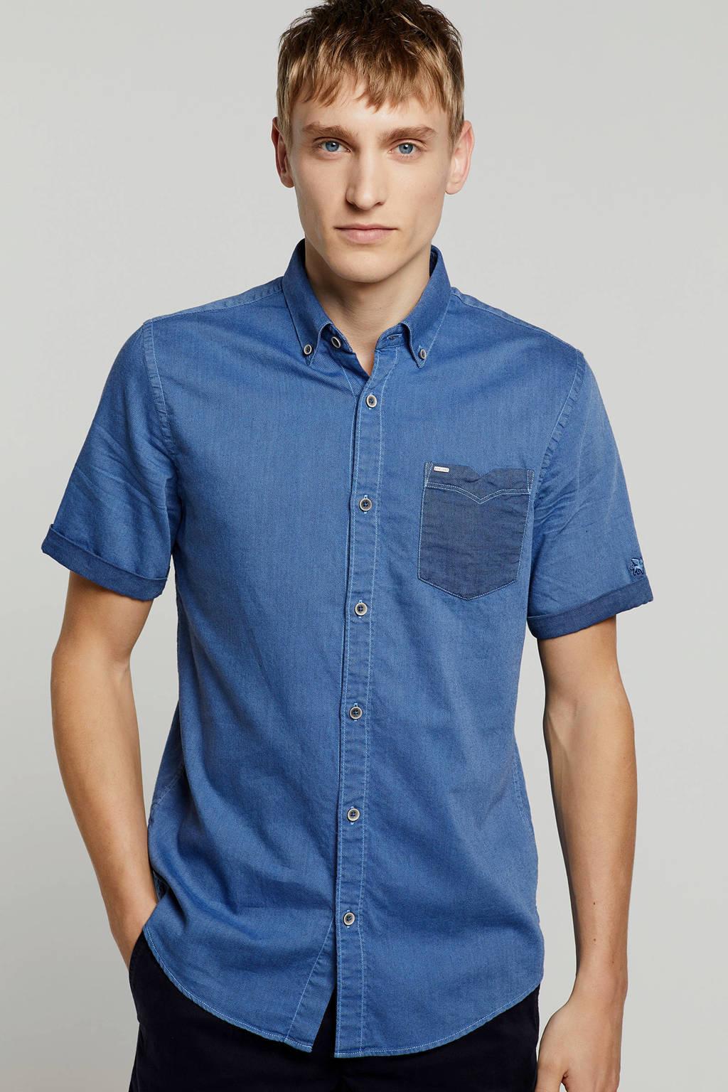 Vanguard regular fit overhemd blauw, Blauw