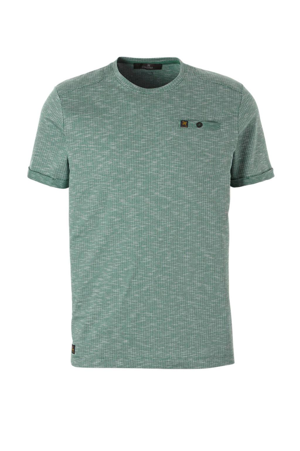 Vanguard T-shirt groen, Groen/ wit