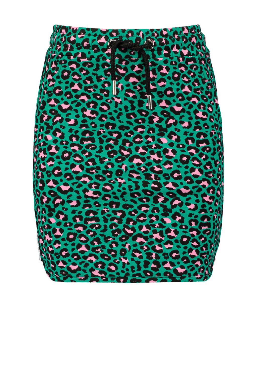 CoolCat sweatrok met panterprint groen, Groen