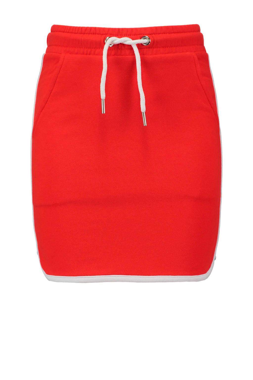 CoolCat sweatrok met zijstreep rood, Rood