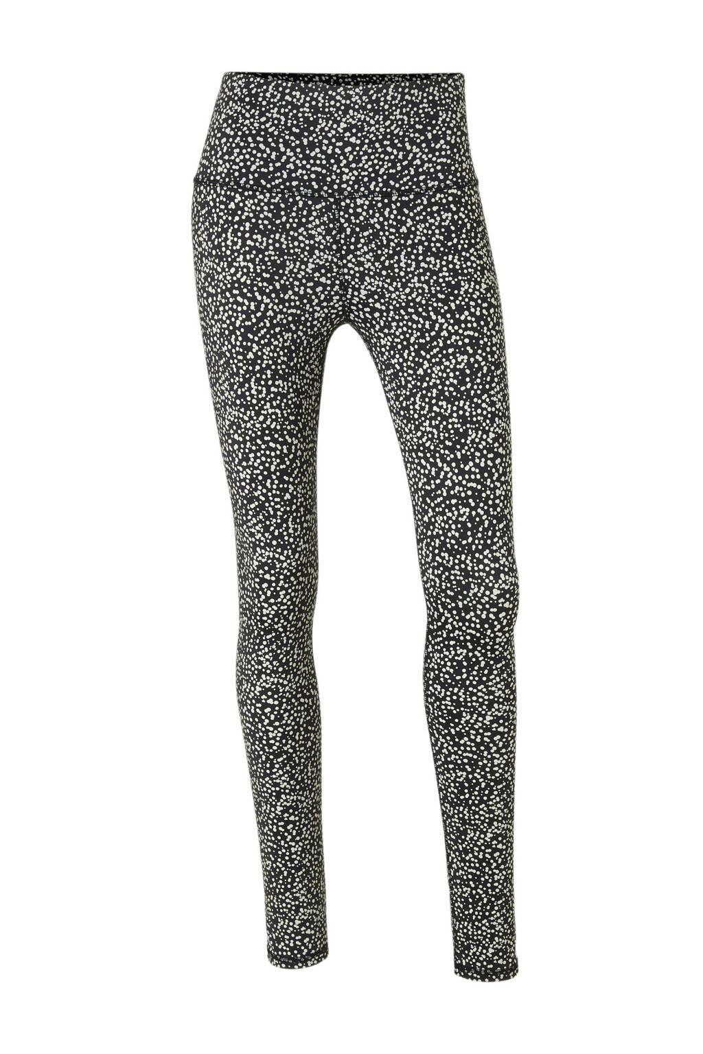 10DAYS legging met all over print, Zwart/ecru