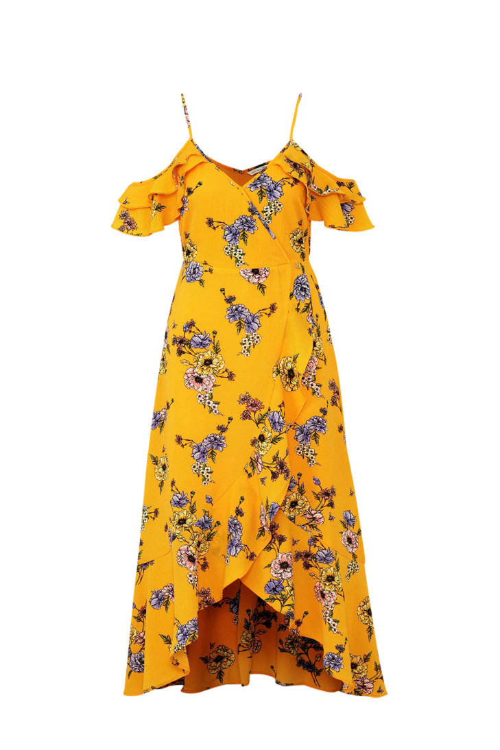 Tailor met Tom geel over all jurk print HUWnCqx