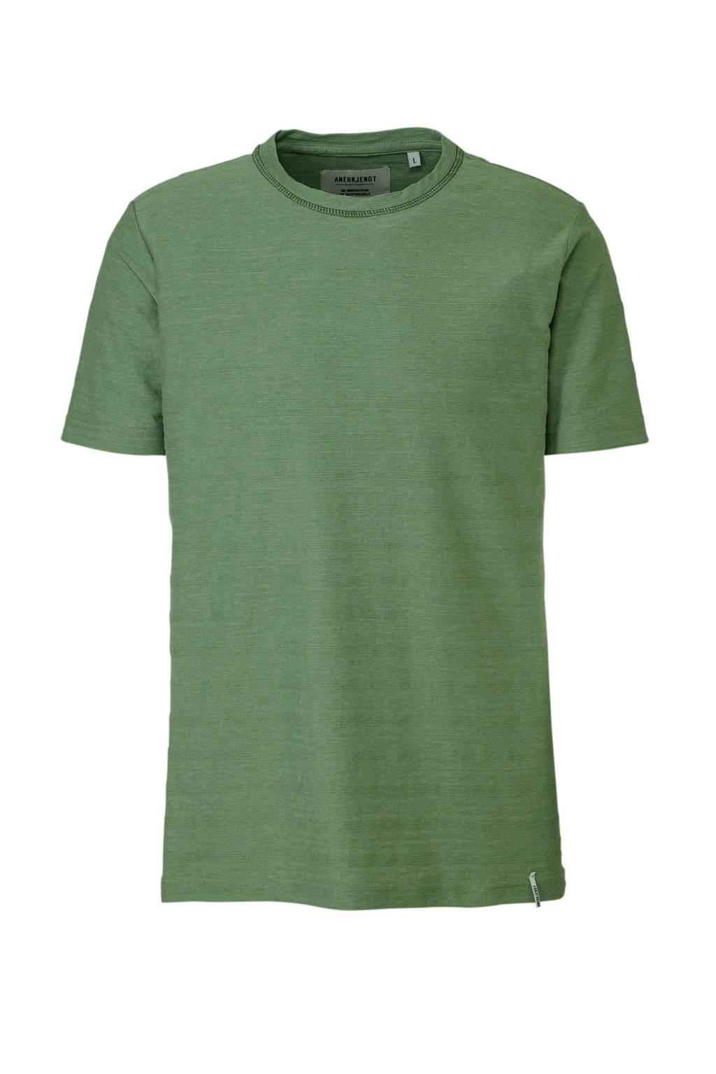 Anerkjendt T-shirt met textuur groen, Groen