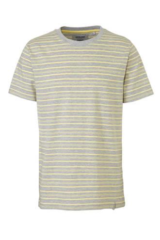 gestreept T-shirt grijs