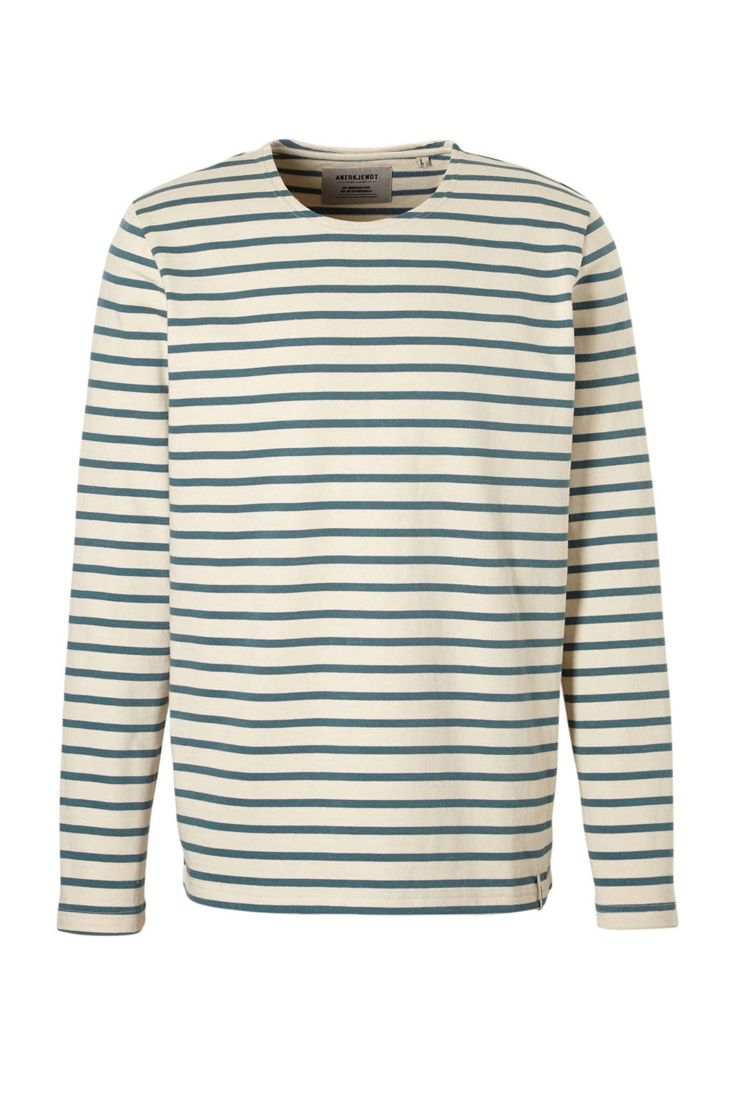 Anerkjendt Sweat stripe sweater blauw, blauw/ beige