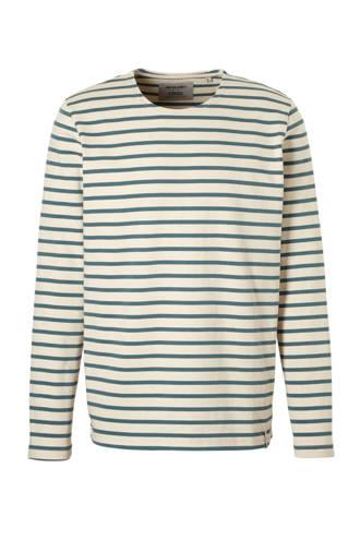 Sweat stripe sweater blauw