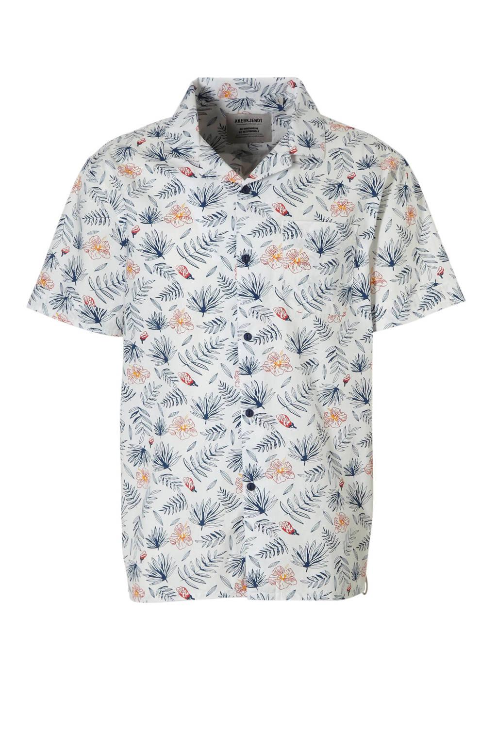 Anerkjendt overhemd met allover bloemdessin, Wit/ multi-kleuren