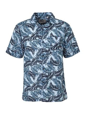 regular fit overhemd met print blauw