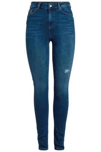 skinny fit jeans met slijtage detail