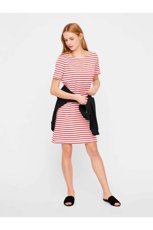 gestreepte jurk rood/wit