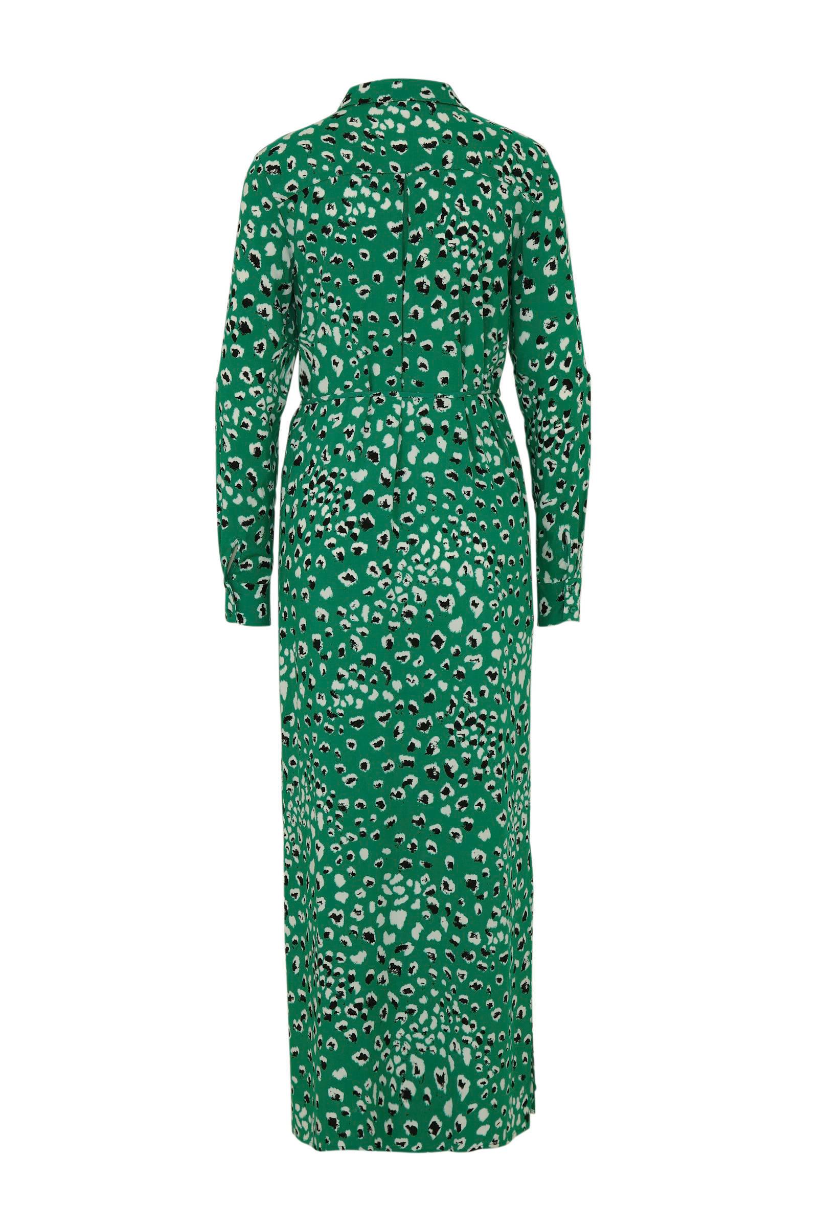 groen groen VILA met jurk VILA panterprint jurk met panterprint H84wdq4