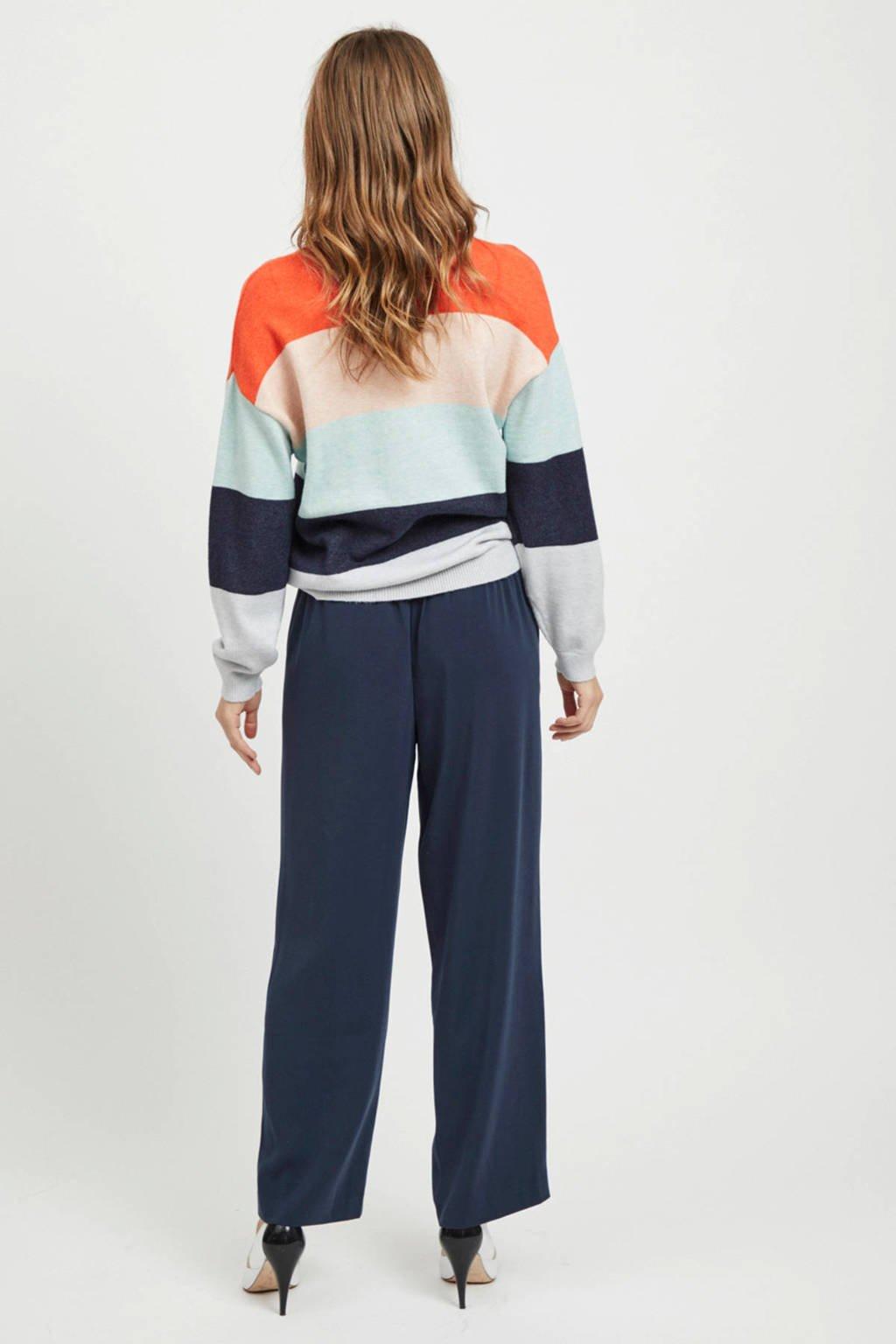 VILA sweater met strepen, Grijs/blauw/roze/oranje