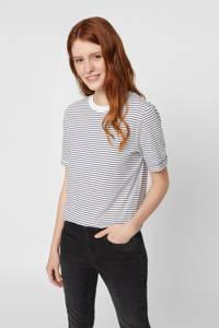 PIECES gestreept T-shirt, Donkerblauw/wit