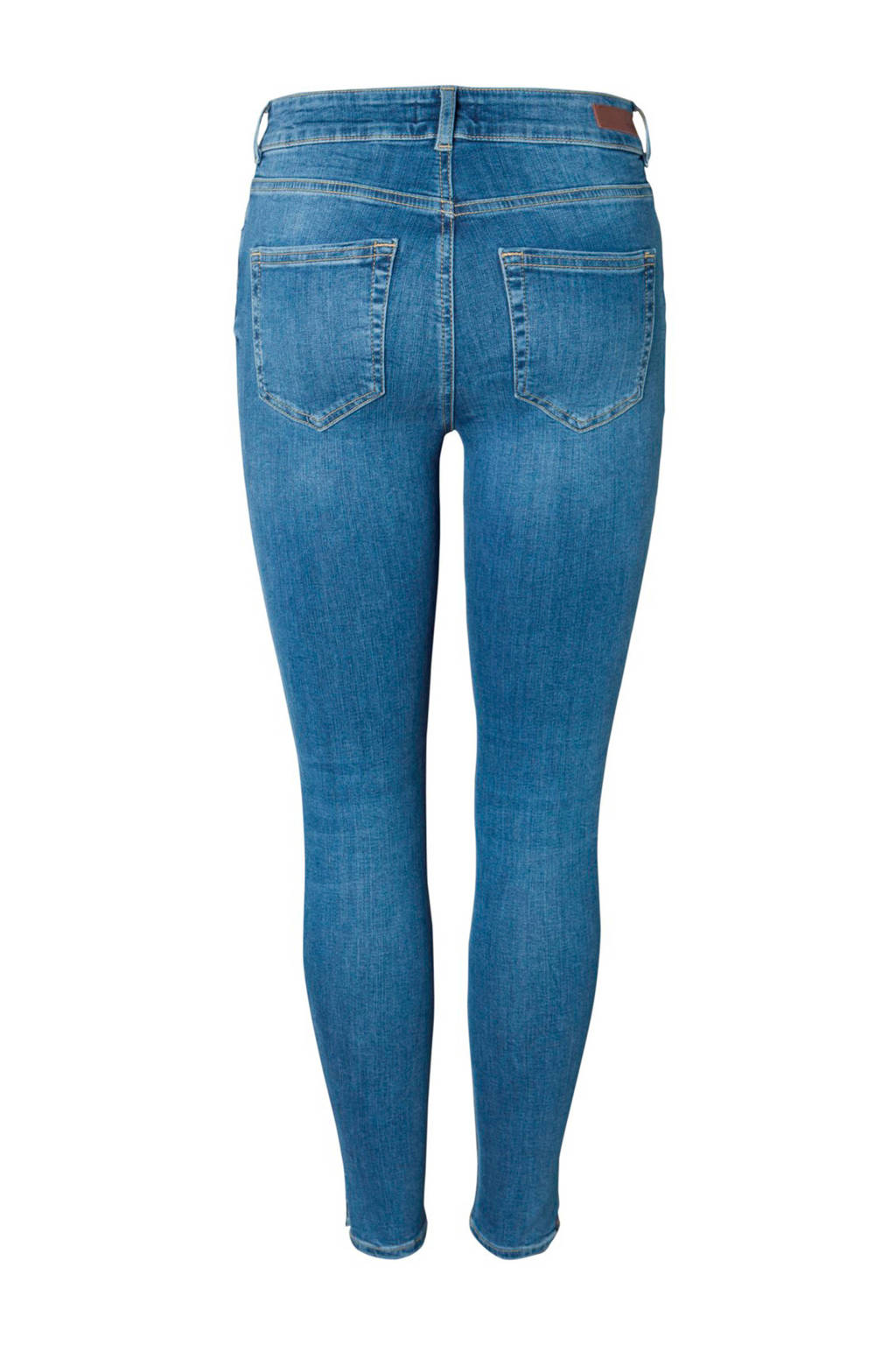 Pieces skinny fit jeans, Blauw