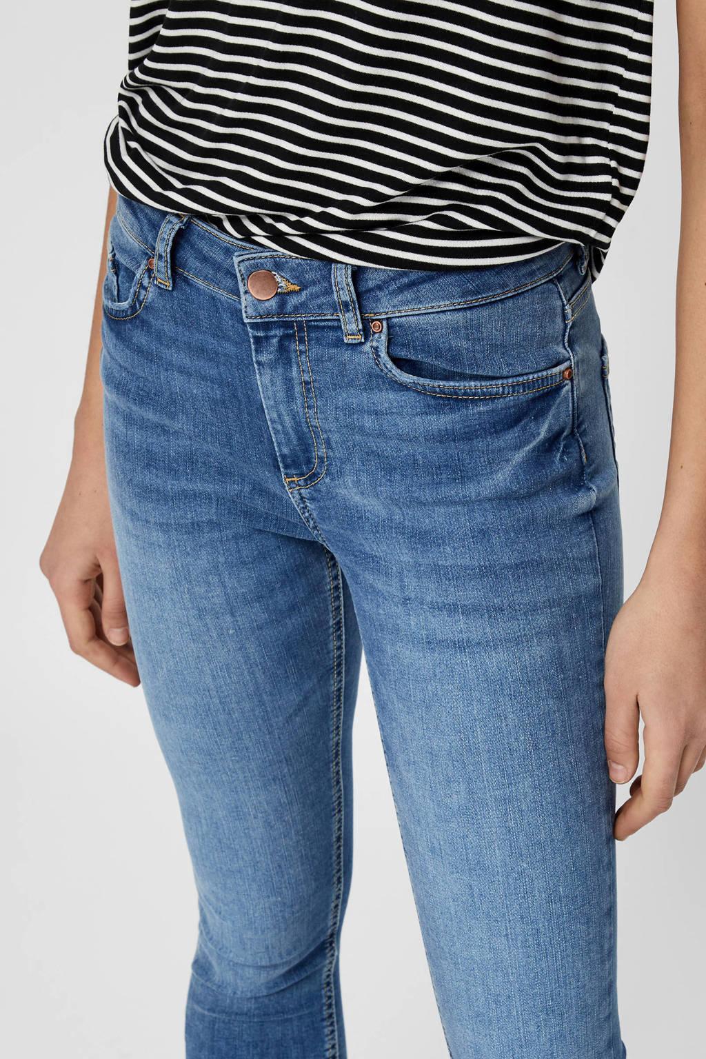 PIECES high waist skinny jeans blauw, Blauw