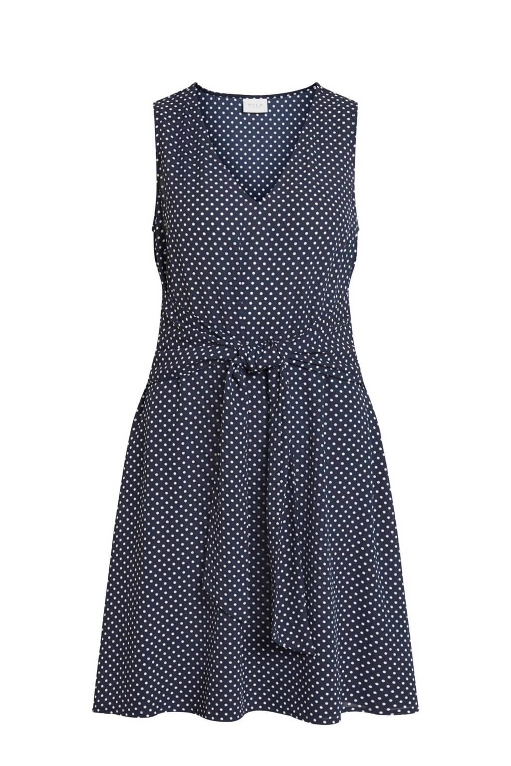 b37b39e5fe39e0 VILA mouwloze jurk met strikdetail