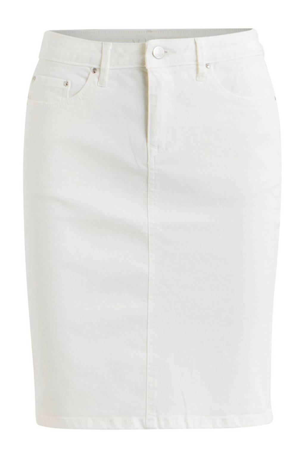 VILA spijkerrok wit, Wit