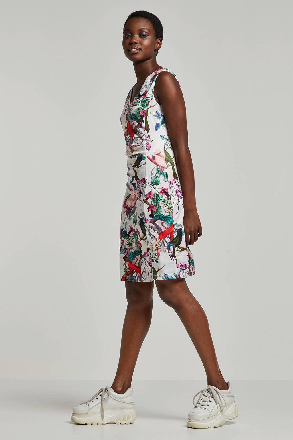 Smashed Lemon jurk met bloemenprint wit, Wit/multi