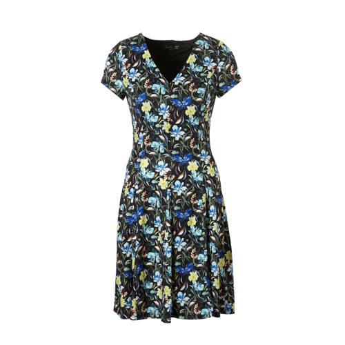 Smashed Lemon jurk met bloemenprint zwart kopen