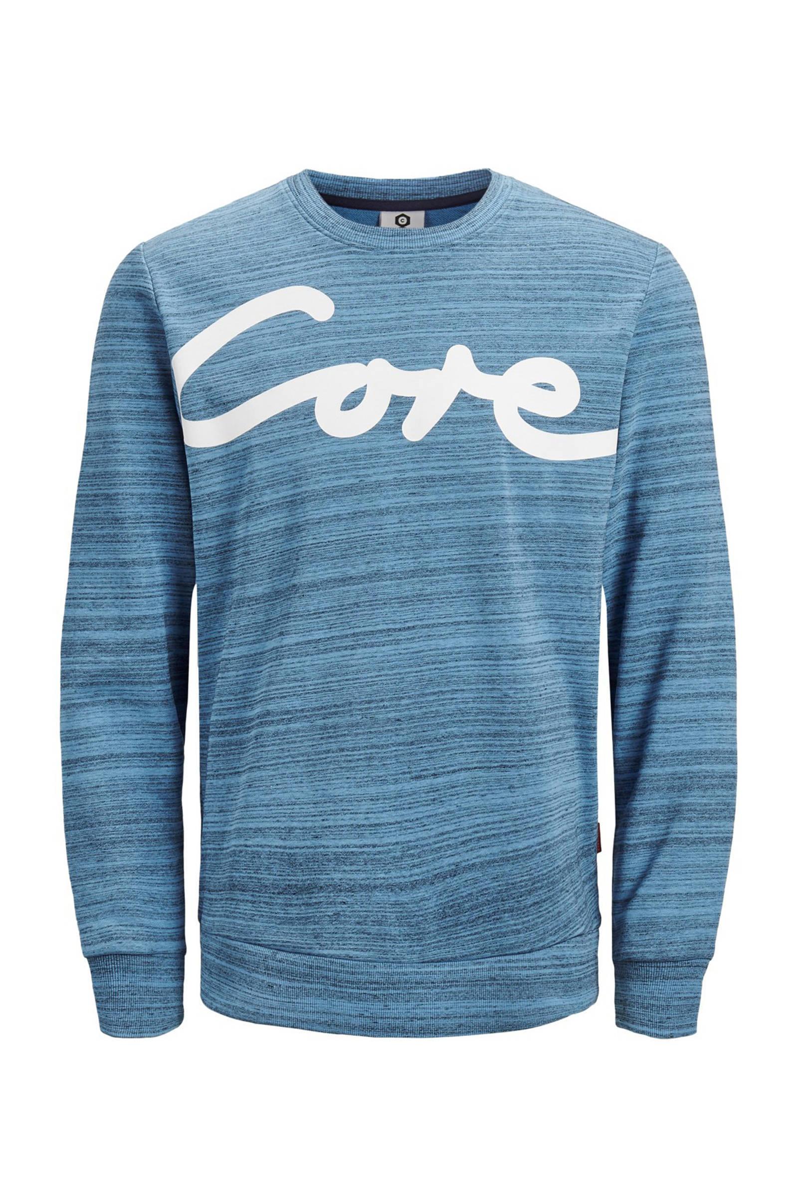 met sweater Jack Core Jones printopdruk qS4gtv4