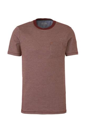 Premium T-shirt Oscar met print donkerrood