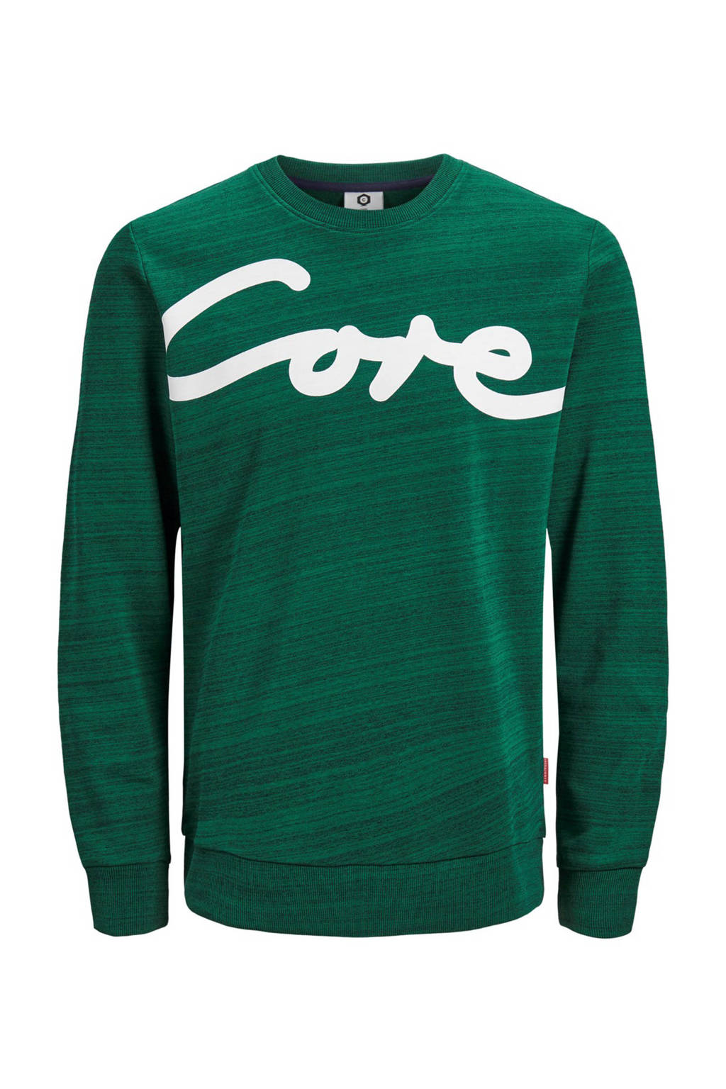 JACK & JONES CORE sweater met printopdruk, Groen