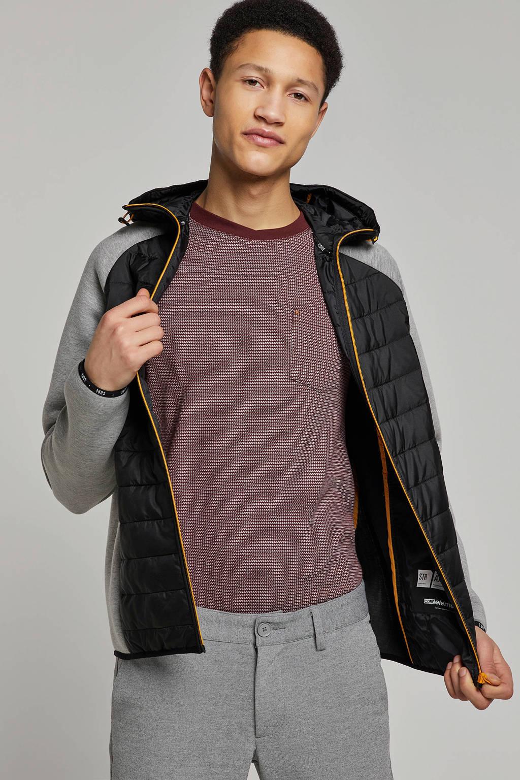 Jack & Jones Core jas, Zwart/grijs