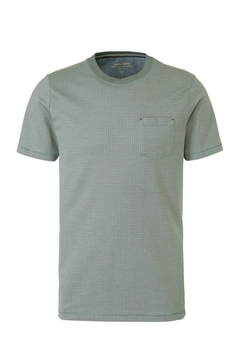 Jack & Jones Premium T-shirt Oscar met print groen, Groen