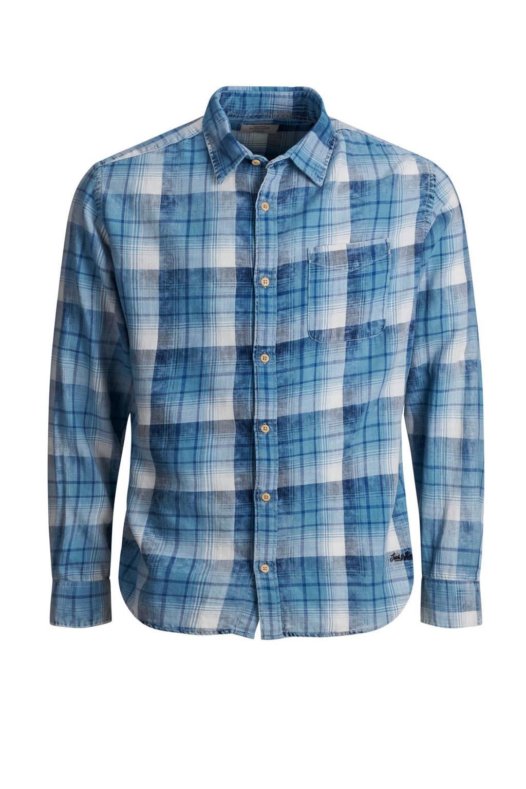 Jack & Jones Originals slim fit overhemd, Blauw